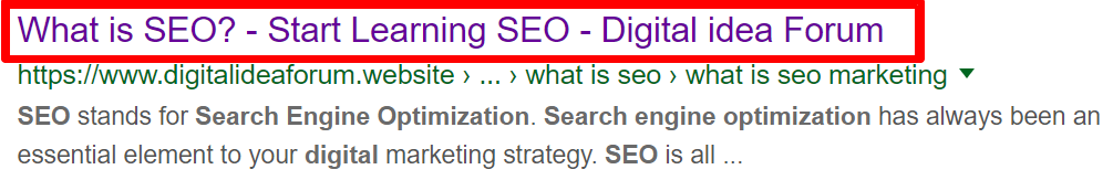 Meta Tags for better SEO - Digital idea Forum