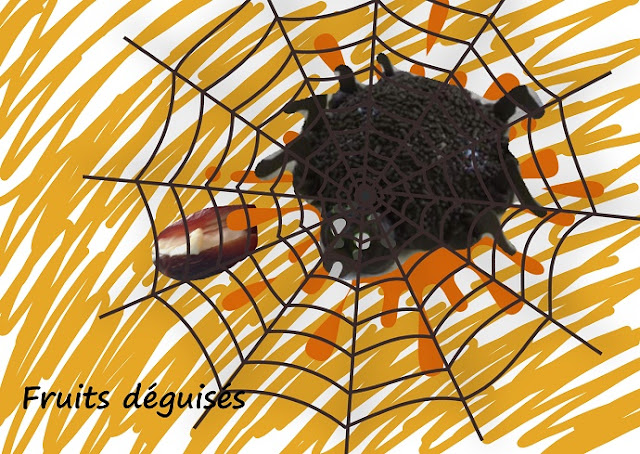 Halloween, apéro, araignée et cafards, dattes, pruneaux, fromage, noix de pécan