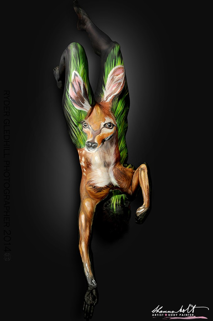 07-Key-Deer-Shannon-Holt-Florida-Wildlife-Series-Bodypainting-www-designstack-co