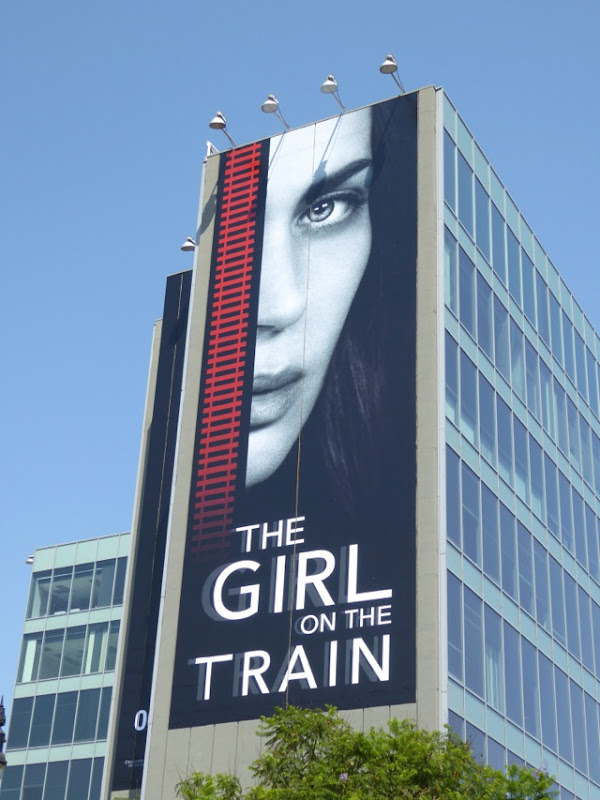 Emily Blunt The Girl on the Train movie billboard