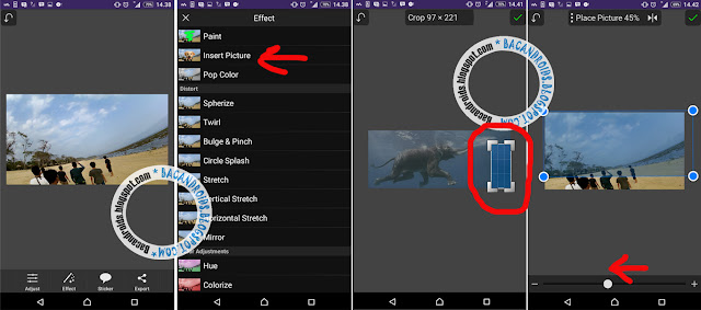 Cara Edit Foto Membuat Efek Ikan Paus dan Gajah di Langit dengan PicSay Pro