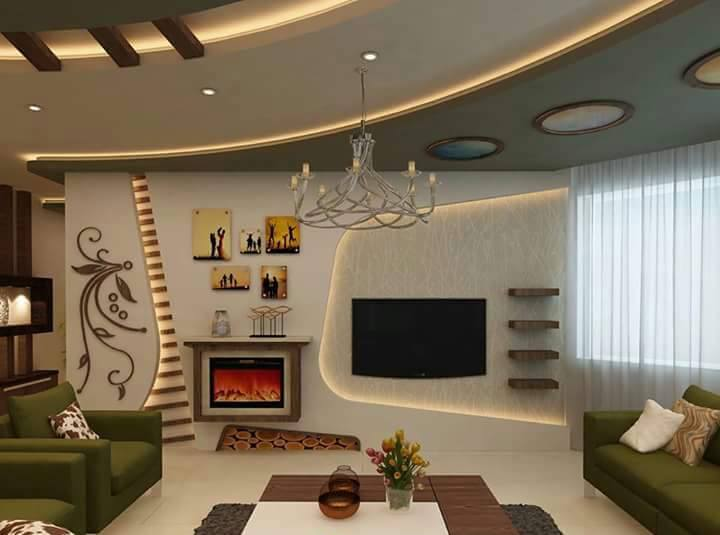 25 popular custom gypsum board tv units decor units. Black Bedroom Furniture Sets. Home Design Ideas
