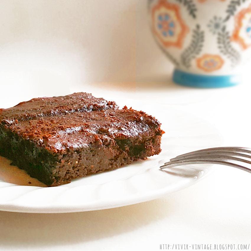 brownie vegano facil