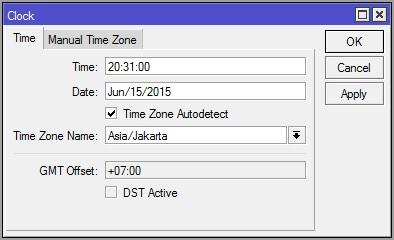 Cara Setting Jam dan Tanggal di MikroTik
