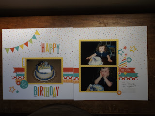 CTMH Party Time Scrapbook Layout