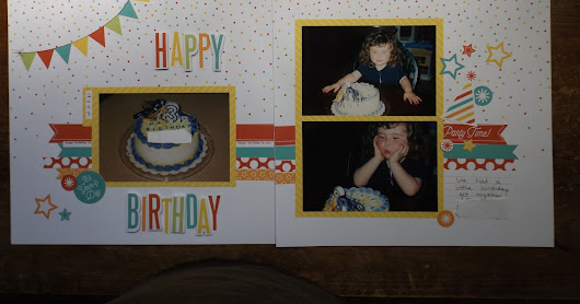 Party Time Scrapbook Layout ~ Easy Kit To Put Together!