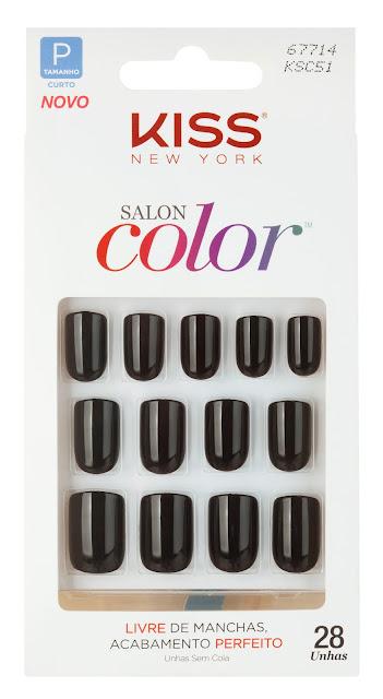 unha postica colorida preta