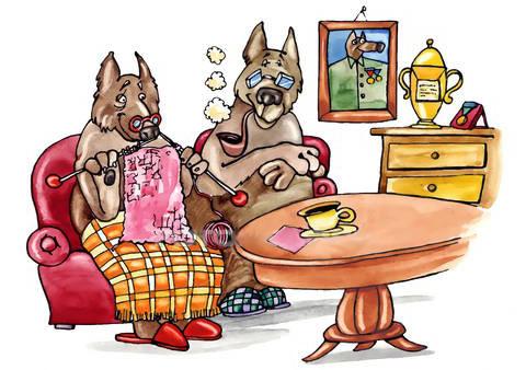 Contro il cancro con un sorriso come due vecchietti - Coppia di amatori che scopano sul divano ...