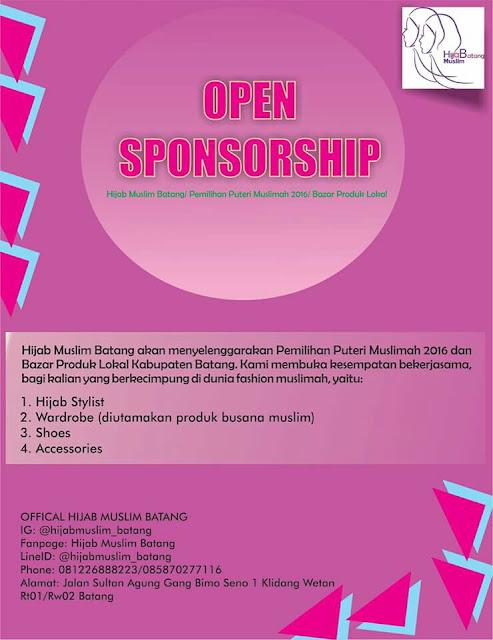 Lowker: Batang | Open Sponsorship | Hijab Muslim Batang | Pemilihan Puteri Muslimah 2016
