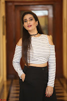Manjusha in sleevelss crop top and black skirt at Darshakudu pre release ~  Exclusive Celebrities Galleries 086.JPG