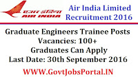 Air India Limited Recruitment 2016 for 100+ Graduate Engineer Trainee Posts Apply Online Here