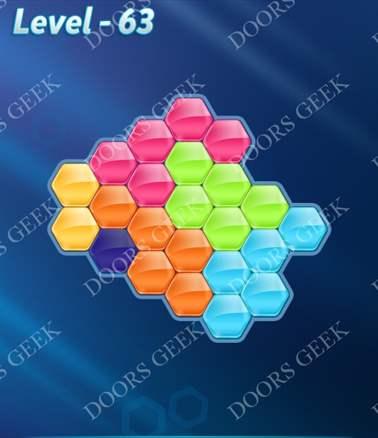 Block! Hexa Puzzle [Intermediate] Level 63 Solution, Cheats, Walkthrough for android, iphone, ipad, ipod