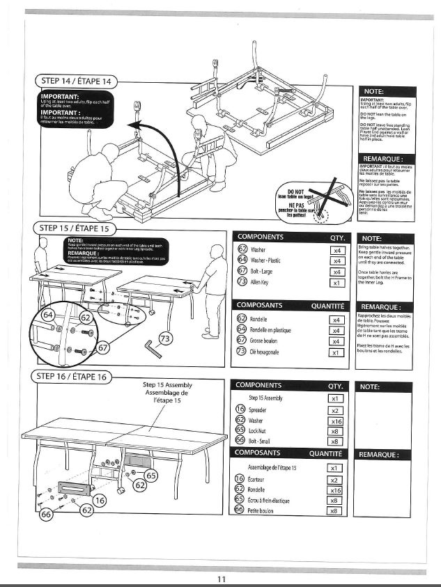 Find Your Manuals Here...: Eastpoint Table Tennis Table