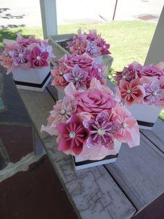 Tutos Centros De Mesa Con Flores De Papel Técnica De Origami