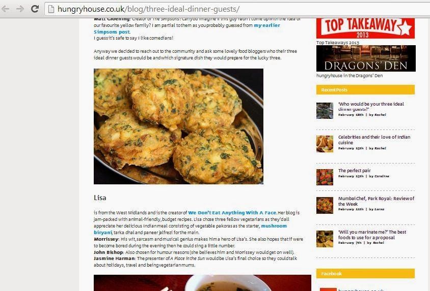 We Don't Eat Anything With A Face: Media Features