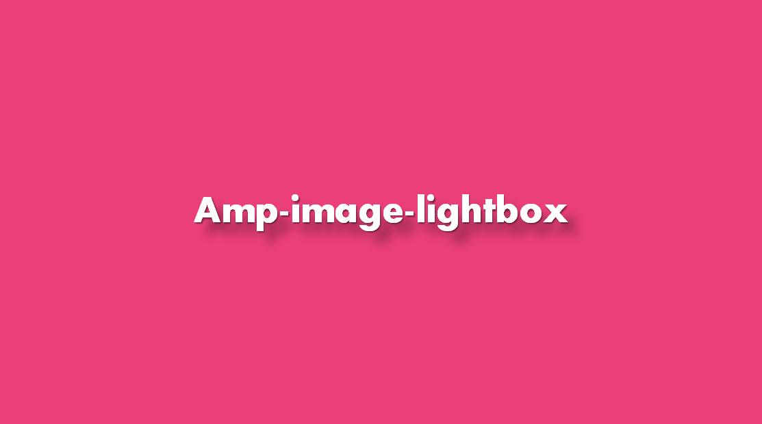 ¿Cómo añadir amp-image-lightbox?