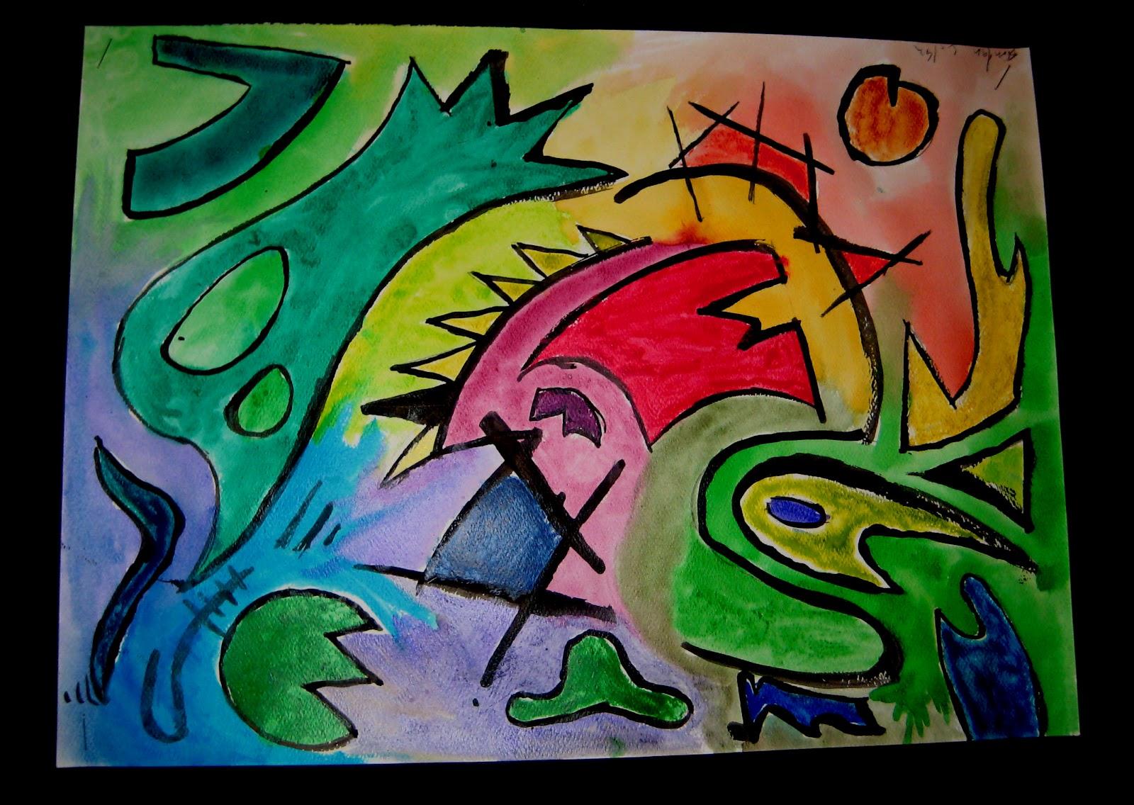 Mrs Art Teacher Kandinsky Watercolor