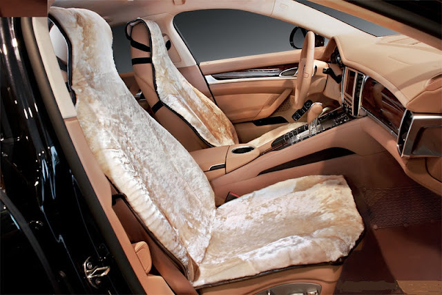 меховые накидки на сиденье автомобиля