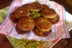 Starter: Yogurt Potato Cutlets.