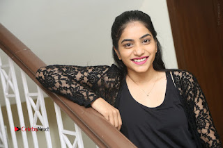 Actress Punarnavi Bhupalam Stills in Black Dress at Pittagoda Press Meet  0157.JPG