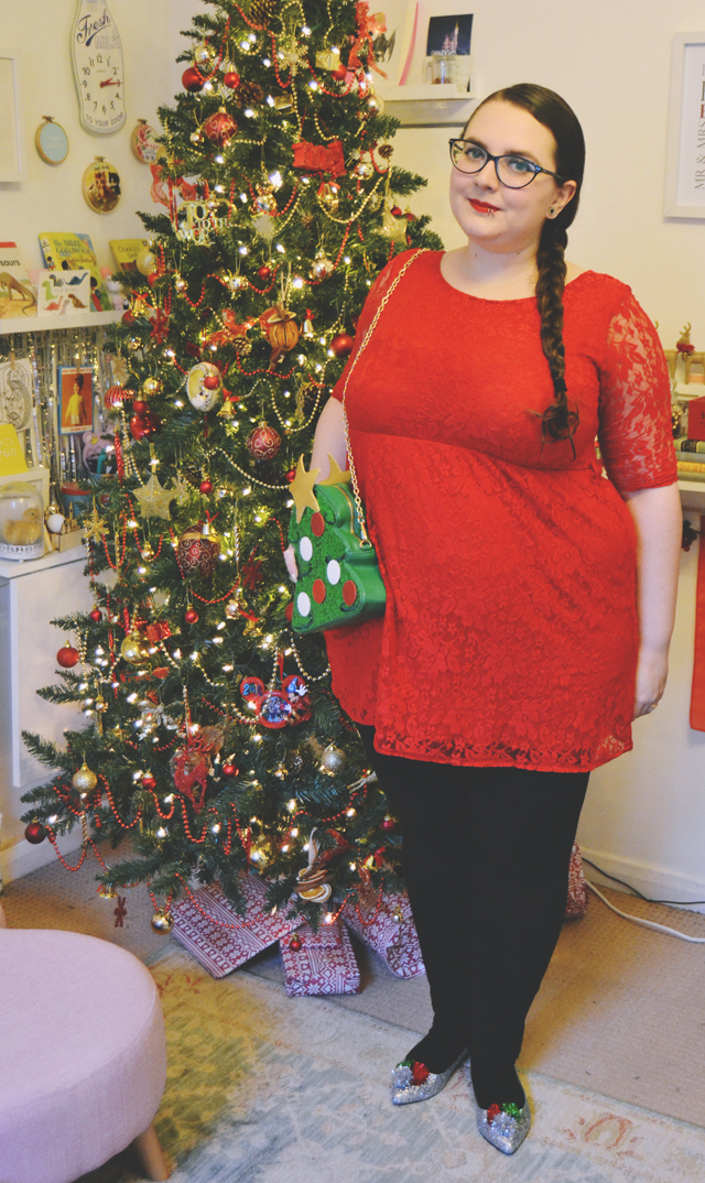 Plus size Christmas Eve outfit