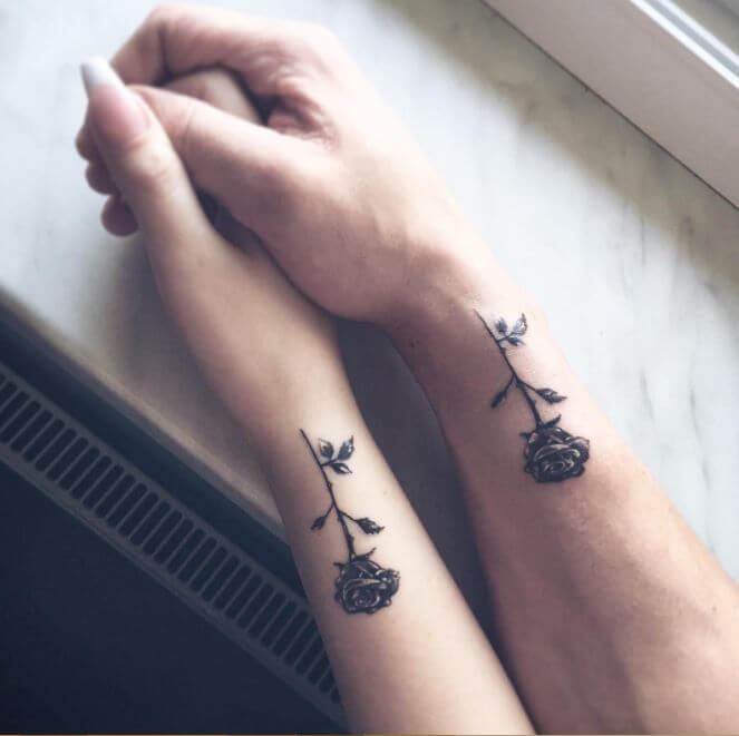 Matching Couple Tattoos Small