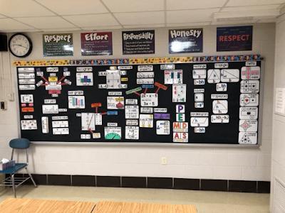 Ms. Heaton's math word wall