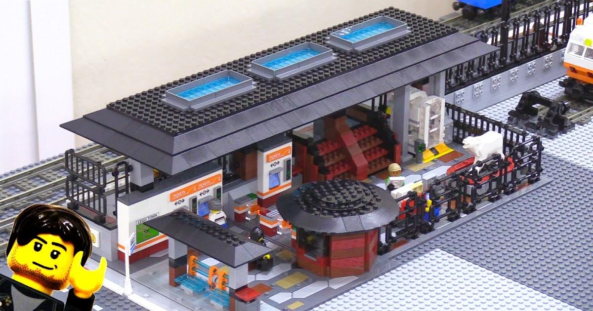 Lego Train Station Moc Home Stretch