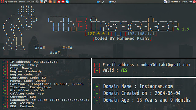 Th3Inspector - Tool for gathering information