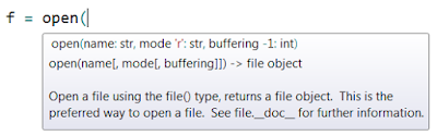 Python Intellisense - Autocompletion of paramters