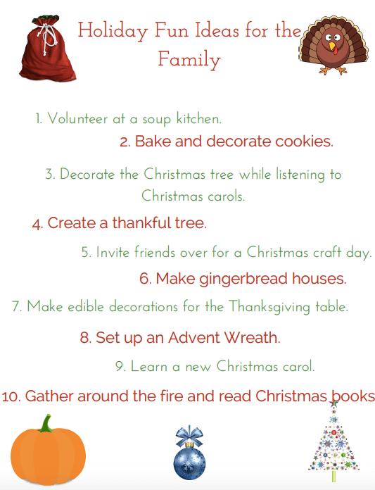 Free family holiday fun