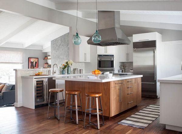 hoy mostramos taburetes originales para tu cocina abierta al saln que te permitirn crear un espacio con