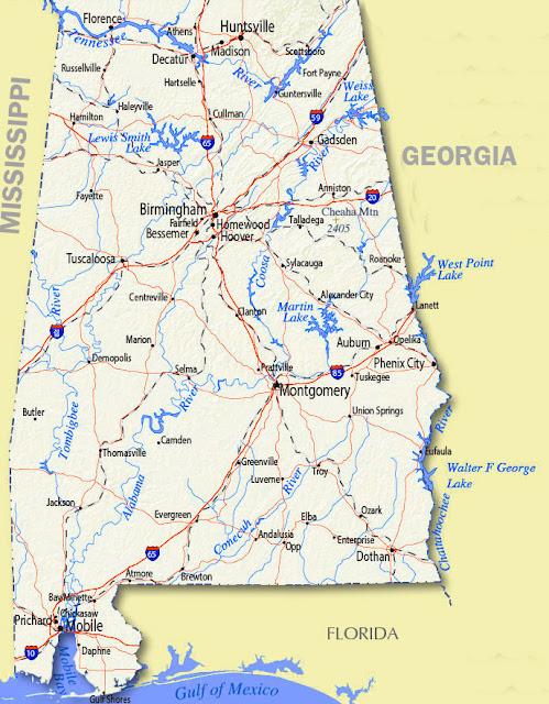 Gambar Peta Alabama 2