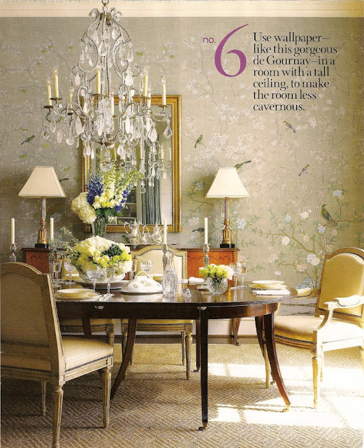 Dining Room Wall Paper: Pretty Inspirational: De Gournay Wallpaper