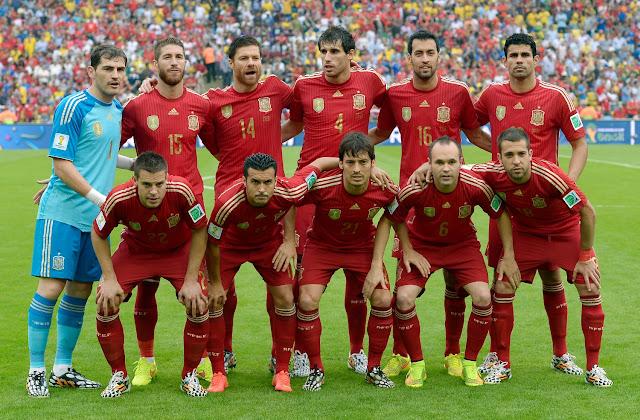 Formación de España ante Chile, Copa del Mundo Brasil 2014, 18 de junio