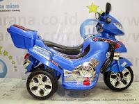 Motor Mainan Aki Pliko PK9818 Police Escort Blue
