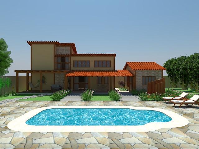 A urban stica fachada da casa com ou sem telhado for Fotos de casas modernas com telhado aparente