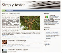 Simply Faster Blogger Template