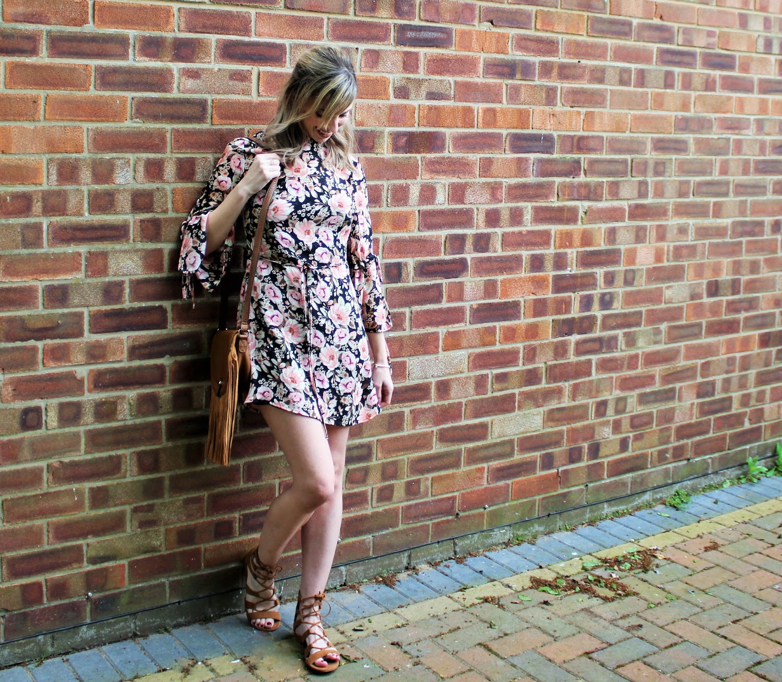 OOTD featuring a floral dress from Topshop and beaded bracelet from Lola Rose - 2