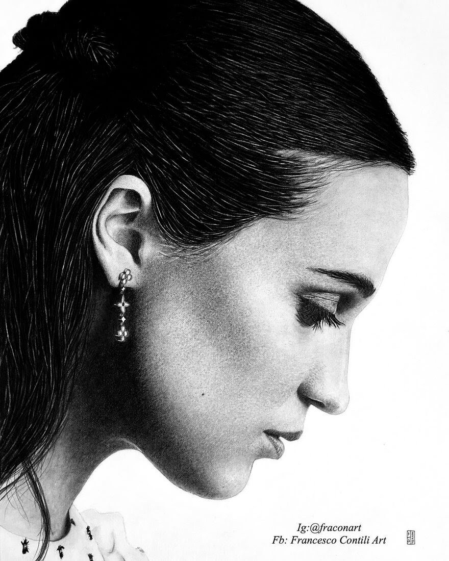 12-Alicia-Vikander-Francesco-Contili-Realistic-Graphite-and-Charcoal-Portrait-Drawings-www-designstack-co