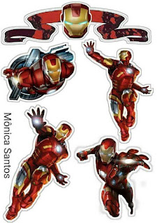 Iron Man Free Printable Cake Toppers.