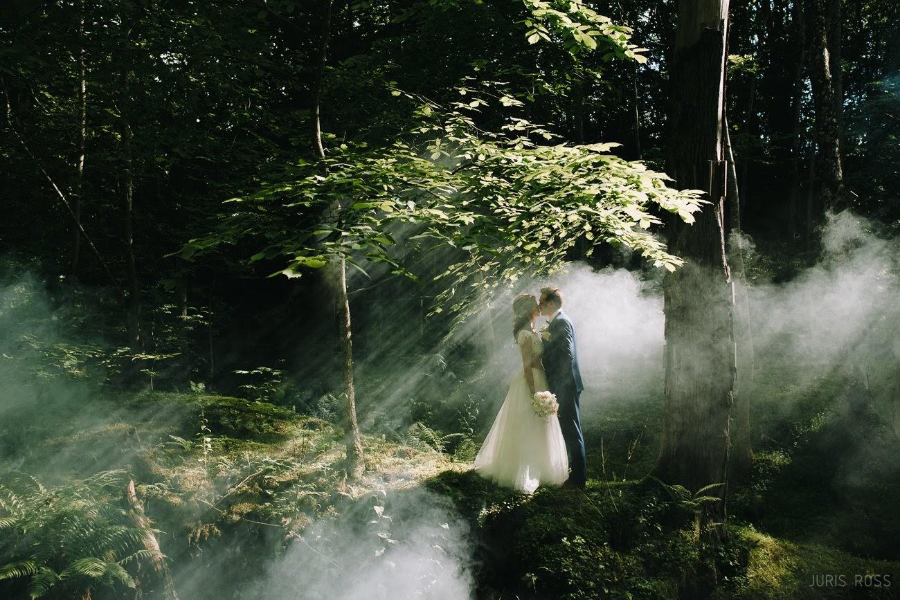dūmi kāzu fotosesija