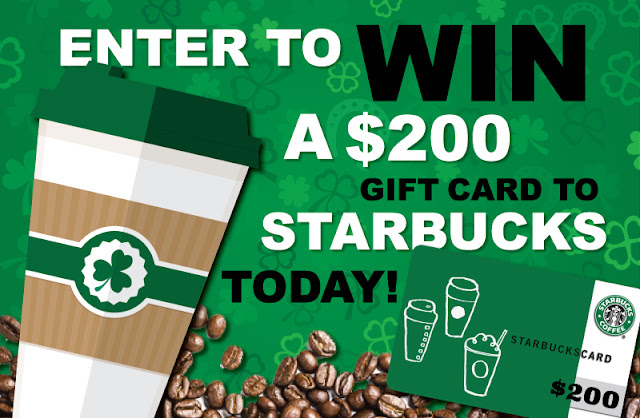 You Could WIN Yourself a $200 Starbucks Gift Card