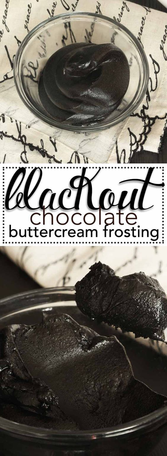 Blackout Chocolate Buttercream Frosting