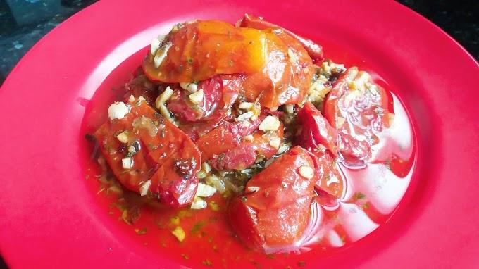 Tomate seco caseiro - Simples, gostoso e barato!