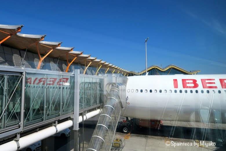 バラハス空港で待機するイベリア航空の飛行機