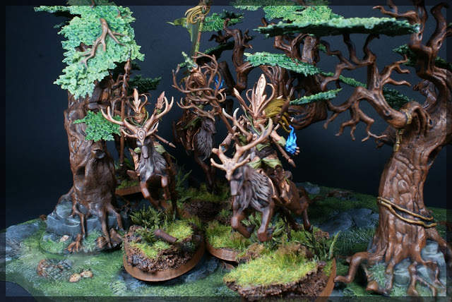 warhammer age of sigmar sylvaneth wyldwood painted forest scenery miniatures diorama sisters of the thorn