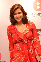 Mannara Chopra in deep neck Short red sleeveless dress Cute Beauty ~  Exclusive Celebrities Galleries 089.JPG