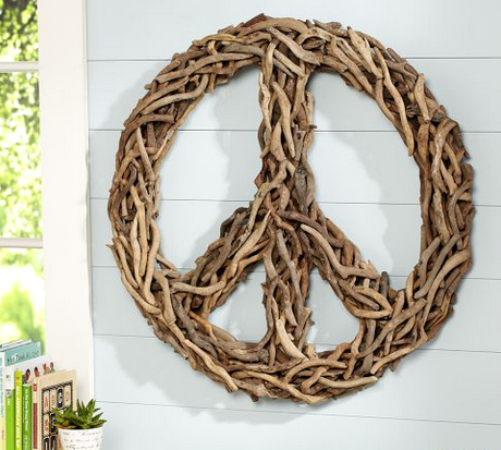 peace sign Pottery Barn