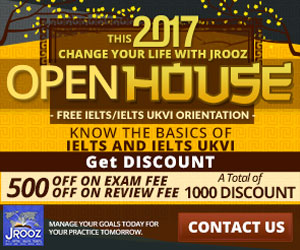 JROOZ FREE IELTS/IELTS UKVI OPENHOUSE PROMO  Join us on January 21, 2017  Know the basics of IELTS and IELTS UKVI  GET 1000 OFF  Manage Your Goals Today For Your Practice Tomorrow!